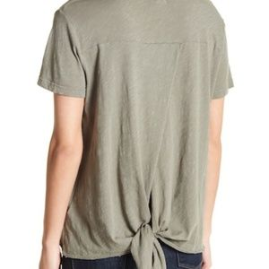 NWT Anthropologie Sundry Hi-Lo Tie Back Tee